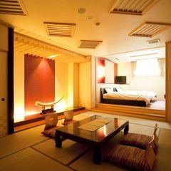 新設!露天風呂付き客室 和室+ベッド室の和洋室マッサージ機付