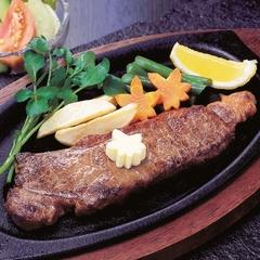 すてきなステーキ越前楽プラン 舟盛の代わりにステーキが付く 部屋食