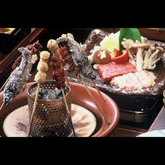 【当館人気】大鍋料理と炭火串焼きを楽しむ♪「囲炉裏風会席」