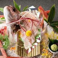 【記念日・お祝い】水引の鯛姿造り付きプラン♪■お部屋食+選べる無料特典付!+ケーキなどの別注もOK■