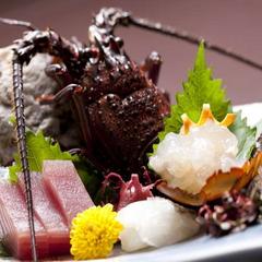 【伊勢海老をレストランでお得に!】 「ぷりっぷりの伊勢海老のお造り付♪海の幸会席」 <レストラン食>