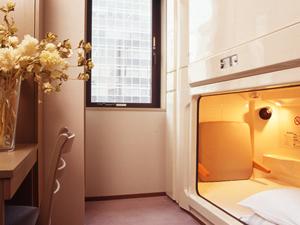 喫煙★男性専用クオカード1000円&朝・夕食付★個室カプセル