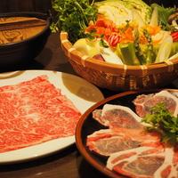 【上州牛&やまと豚の豪華しゃぶしゃぶコース】夕・朝ともに個室でお食事&貸切風呂無料