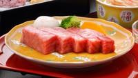 【夕食個室】一番人気!個室でゆっくり愉しむ★一頭買い米沢牛トロける霜降りステーキ!