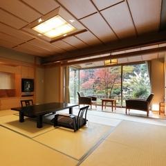 【本間10帖+次の間6帖】部屋から庭園が一望できる広い部屋