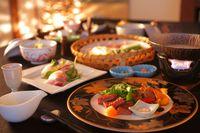 【さき楽】45 朝夕個室料亭で楽しむ会席料理『森の晩餐』 湯主一條【基本】style