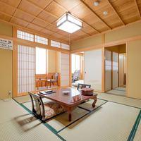 【檜の間】和室10畳+6畳 貸切風呂1時間利用付き *禁煙
