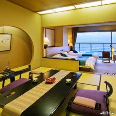 和室8畳+ツインベッド◆海の見える和洋室◆