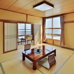 和室16畳角部屋(太平洋一望の10畳6畳+広縁有り)