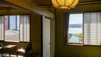 庭園越しに湖を眺める 【 宍道湖向き客室15畳 】