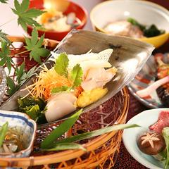 【 晩餐プラン 】料理長こだわりの地物会席コース