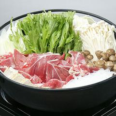 【信州産香味豚/すき焼き】甘みのあるお肉を贅沢にすき焼きで!信州のお野菜もたっぷりと