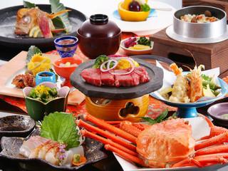 【秋得】美味しい秋♪ 特選但馬牛ステーキと秋の海幸会席プラン