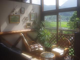 窓から由布岳の見える和洋室