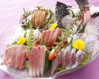 【お勧めプラン】●海鮮陶板焼き&朝獲り地魚活造り・アワビの踊り焼きプラン●