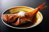 【お肉派の方】「国産牛石焼きステーキ」×「1匹丸ごと〜金目鯛姿煮」