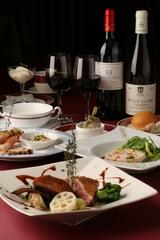 【雄大な富士山をバックにテニスを満喫】フランス料理フルコースプラン(テニスコートレンタル代行別料金)