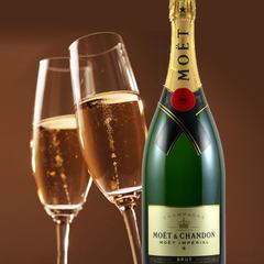 【大切な記念日に】ケーキとMOET&CHANDONでお祝いの乾杯! ゆったり12時チェックアウト