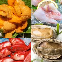 【イス席のお食事処で、新鮮魚介の冬の懐石】さらに!金目鯛・鮑・ウニなど選べる豪華お造り特典付!
