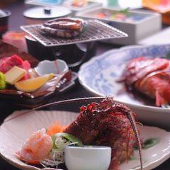 【伊勢海老とアワビ一人1つずつ】 ″ひいな最高級″特製金目鯛姿煮付の海幸満喫プラン