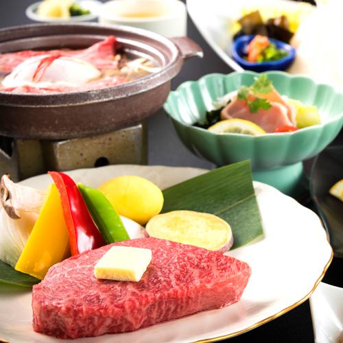 【ご当地牛★能登牛ステーキ】ボリューム◎ジューシーステーキ付!お肉もお魚も食べたい方はこちら♪