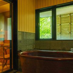 【朝夕ともプライベートな個室食事処でゆったり】貸切風呂特典付〜緑あふれる夏伊香保で巣ごもりステイ