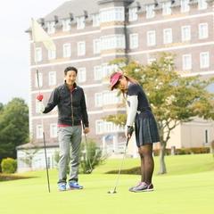 【ゴルフ1Rプレー付】一泊二食付☆チェックアウト後の1Rプレー付!2サム保証、割増料金なし!