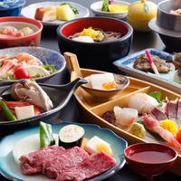 """【和牛ステーキ付】""""遥会席"""" 肉汁たっぷりのやわらか国産和牛ステーキ付き会席!"""