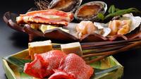 【お料理ランクUP】三陸の恵みを贅沢に食す鮑も踊る海鮮いろり焼き会席