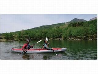 ◆山カヤックプラン◆【八ヶ岳アウトドア体験】 標高1500mの湖でのんびり漂う♪♪