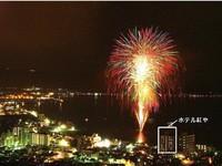 【上諏訪温泉♪感謝イベント】湖畔桟橋で花火観覧 ■洋食バイキング18:30〜19:45