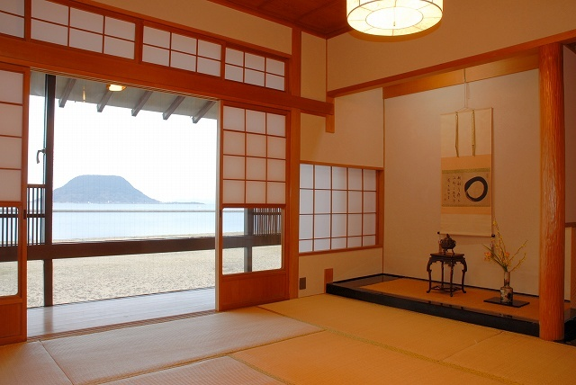 Standard Ocean View Japanese-Style Room with Cypress Bath