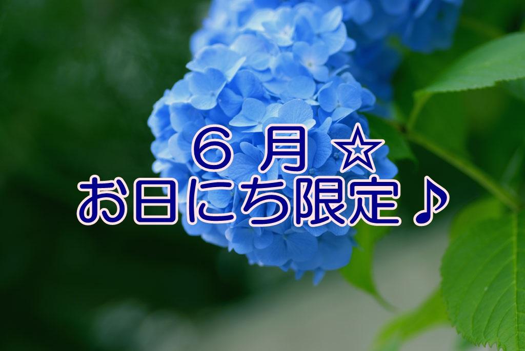 【期間限定】 6月☆お日にち限定プラン♪<朝食付>