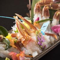 【タグ付加能蟹2人で1杯】上質蟹を召し上がりたい方に〜選べる<ゆで蟹>or<刺し+甲羅焼き>