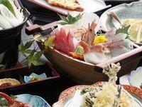 【東北在住者限定】『船盛付き』海鮮料理が味わえる【船盛付海鮮プラン1泊2食付】