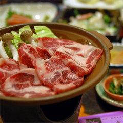 【冬季限定】【肉増量】牛サイコロor信州ご当地豚『選べる』陶板焼き付きプラン