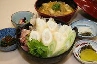 【郷土の味を堪能!】比内地鶏使用のきりたんぽ鍋とミニ親子丼セット