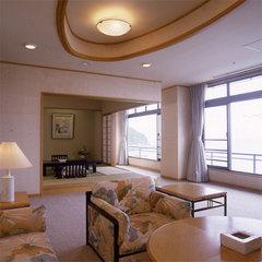 眺望絶佳 『月 玉兎の階』 最上階客室 特別室「 旭日 」