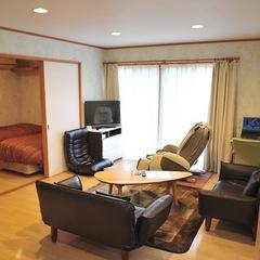 ■別棟禁煙一軒家■マッサージ器付居間+寝室(ツイン+トリプル