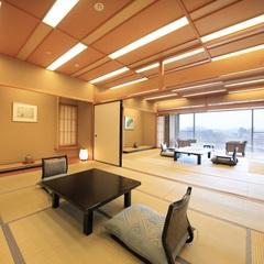 【楽山館・露天風呂付客室】最上階特別室12.5+10畳+広縁