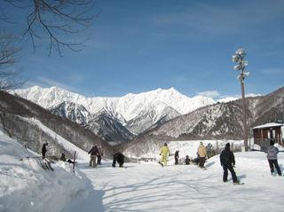 【お先でスノ。】鹿島槍で雪遊び・親子でスキーボードお銚子一本付き又はジュウスサービス