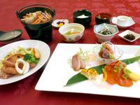 夕食ライトプラン<北海道産とオホーツク近郊食材を使った>創作和食コース(夕朝食付)