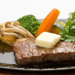 ◆常陸牛ステーキ◆肉汁たっぷり霜降りのお肉を豪快にステーキで〔夕食グレードアップ〕