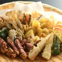 【信州牛網焼きプラン】口に広がるお肉の旨味!揚げたての天ぷら食べ放題つき♪【紅葉】