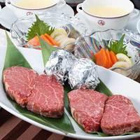 【贅沢ディナー】夕食はお部屋で国産牛ステーキに舌鼓。(ペット同宿/夕食+軽朝食付)