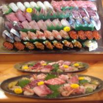 【家族同室】家族同室でおでかけ♪品数豊富で鮮度抜群のお料理・鮨で最高の充電日! 個別別室のお部屋食