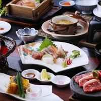 【グレードアップ】長崎牛&旬の地魚盛、アラカブの姿揚げなどを味わう!「グルメ会席」<特典付>