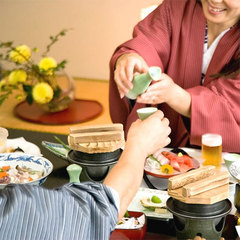 【お料理グレードアップ】ご夕食は個室会食場で頂く★特選料理
