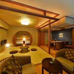【当館3部屋限定!】プライベート空間の半露天風呂付き客室
