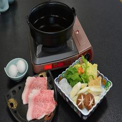 A4黒毛和牛すき焼き鍋会席付プラン【1日3組限定】貸切内風呂無料